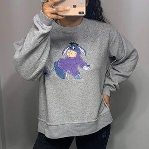 Disney Eeyore Fleece Pullover SZ L